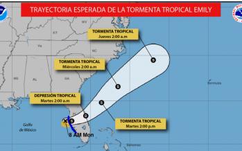 Tormenta tropical Emily amenaza con entrar a Florida