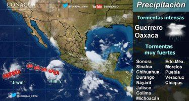 Huracán Hilary aumenta su fuerza; se desplaza al oeste-noroeste