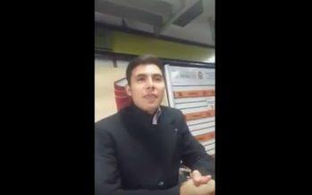 Ebrio, quiere entrar al Metro; dice que llegarán delegados Sheinbaum y Monreal