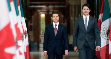 Peña y Trudeau confían en acuerdo en renegociación del TLCAN