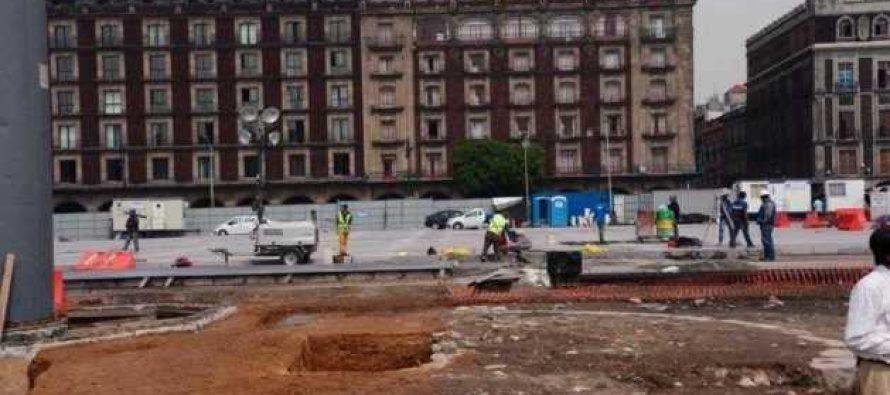 """Descubren el """"zócalo"""" en la Plaza de la Constitución"""
