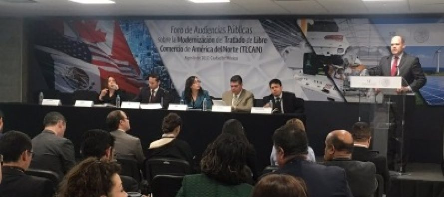 Secretaría de Economía inicia audiencias públicas sobre TLCAN