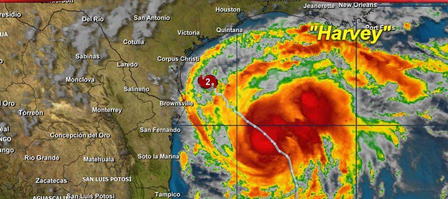 Tamaulipas: Alerta amarilla ante huracán Harvey