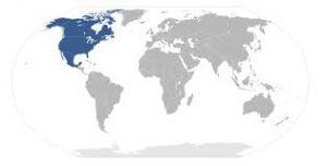 área del TLCAN. Mapa: Wikipedia