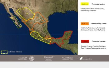 Tormenta Franklin se fortalece sobre el sur del Golfo de México