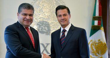 Peña Nieto se reune con el gobernador electo de Coahuila
