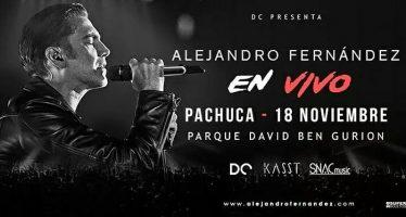 Alejandro Fernández ofrecerá concierto en Pachuca por su 25 aniversario