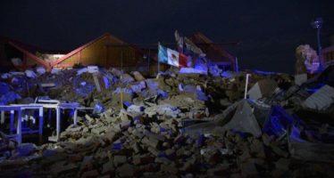 Continúan labores de remoción de escombros en Juchitán