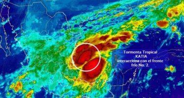 Costas de Tamaulipas y Veracruz en vigilancia por tormenta Katia