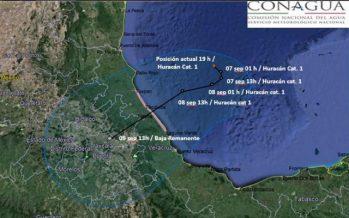 Emiten recomendaciones en previsión de entrada de Katia a Veracruz