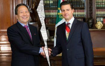 Morena expresa solidaridad con embajador de Corea del Norte