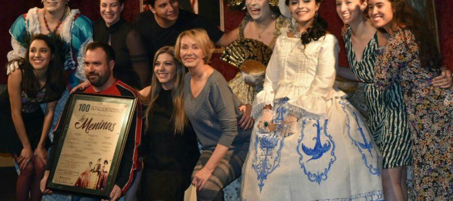 Las Meninascumplieron 100 representaciones y lo festejan en el Teatro NH