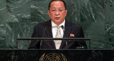 Suicida, la postura de Trump: canciller norcoreano ante la ONU