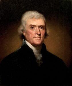 Thomas Jefferson. Foto: Wikimedia Commons