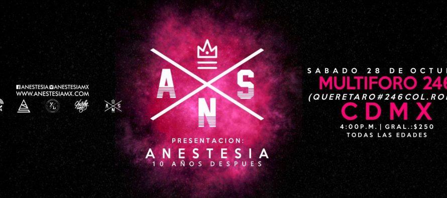 """Charles Ans, Gordo Fu y DJ Zero presentarán:""""Anestesia, 10 años después"""""""