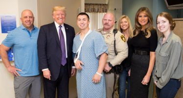 Trump destaca encuentro con víctimas del tiroteo en Las Vegas
