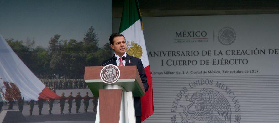 Emergencia unió más a mexicanos y Fuerzas Armadas: Peña Nieto