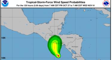 Tormenta tropical Selma amenaza El Salvador y sus vecinos