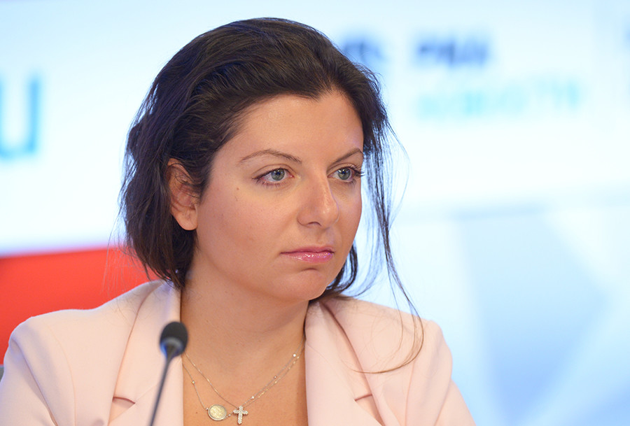 Margarita Sominián, directora de RT. Foto:  Vladímir Trefilov / Sputnik