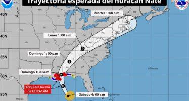 Nate podría llegar a Luisiana como huracán, categoría 2