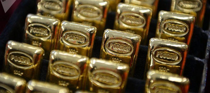 Rusia compra oro a un ritmo récord ante problemáticas el dólar