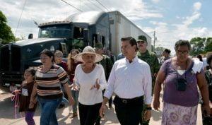 Peña Nieto en el municipio de Asunción Ixtaltepec. Cortesía de la Presidencia de la República