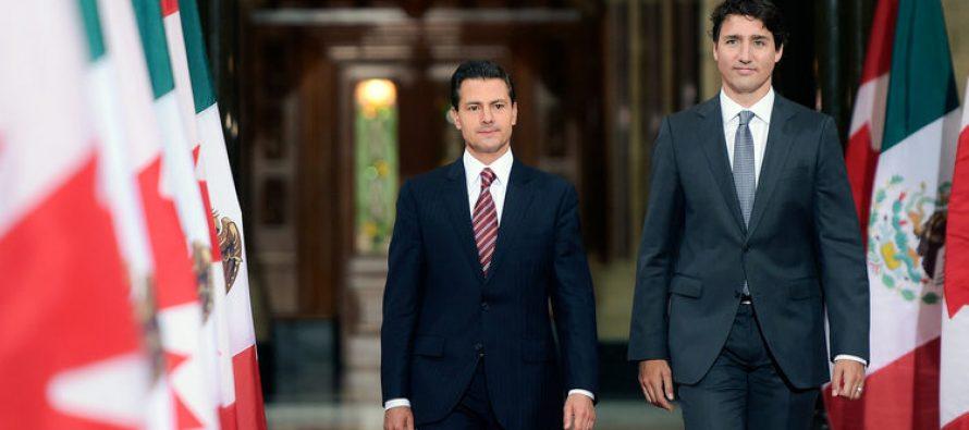 México y Canadá apoyan prosperidad con TLCAN: EPN