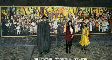 El Museo Anahuacalli exhibe el fotomural de la recreación en vivo deSueño de una tarde dominical en la Alameda Central