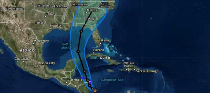 Tormenta tropical Nate se forma frente a Nicaragua