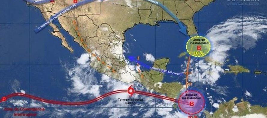 Tormenta tropical Ramón se desplaza cerca de costas de Oaxaca