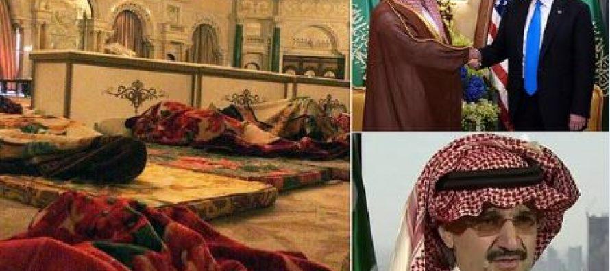 Príncipes sauditas arrestados, duermen en el suelo de un hotel