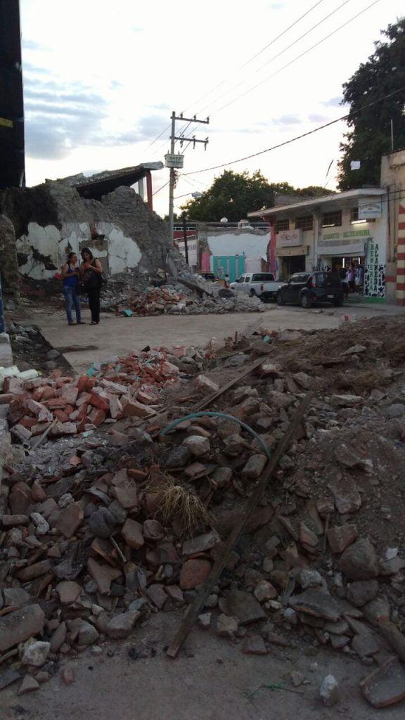 Derrumbe en Jojutla. Foto de Voces del Periodista