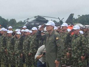 Elementos de la Fuerza Aérea de Colombia, que participan en los ejercicios AmazonLog17