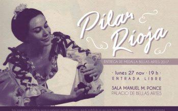 La gran exponente de la danza española Pilar Rioja, recibirá hoy la Medalla Bellas Artes