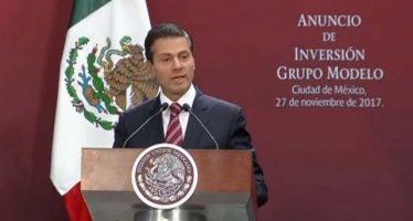 Peña Nieto: Es correcto, flujo de inversiones en México