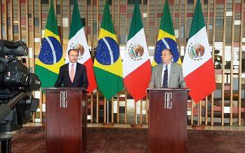 Videgaray: voluntad de intensificar comercio bilateral con Brasil