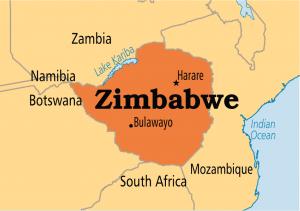 Mapa de Zimbabue. Commons Wikimedia