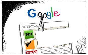 """""""Caza de brujas del siglo XVII"""" similar a prohibición de Google"""