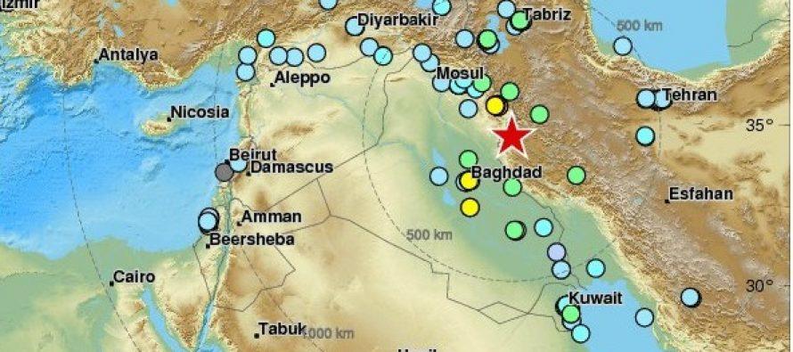 Sube a 67 muertos y 450 heridos, saldo de sismo en Irán e Irak