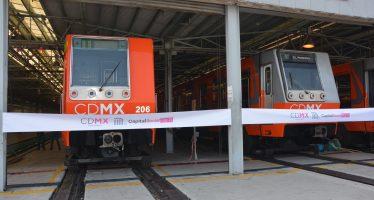 Entregan al Metro 5 trenes recuperados y dos remolques