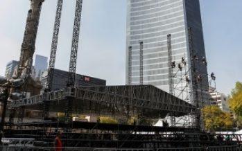 Cerrado tramo de Reforma por preparativos de concierto