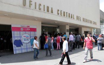 Corrige Registro Civil capitalino más de 41 mil actas durante 2017