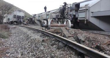 Delincuentes descarrilan tren en Veracruz, para asaltarlo