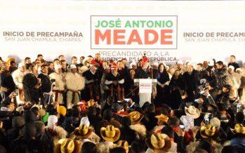José Antonio Meade arranca precampaña en Chiapas