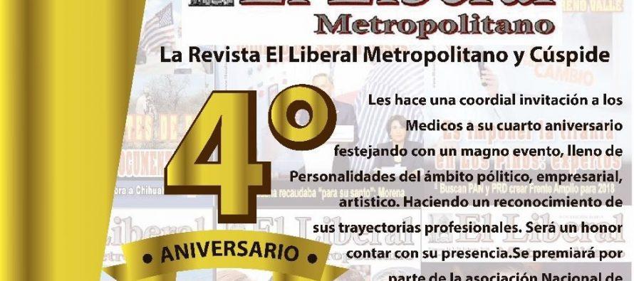 La Revista El Liberal Metropolitano otorgará galardones a reconocidas agrupaciones y celebrará fiesta en su Cuarto Aniversario
