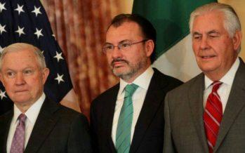 México y EUA fortalecen diálogo político y cooperación en seguridad