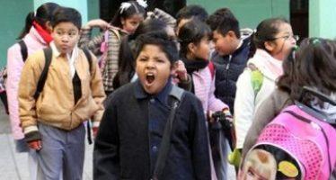 Modifican horario escolar por bajas temperaturas en Michoacán