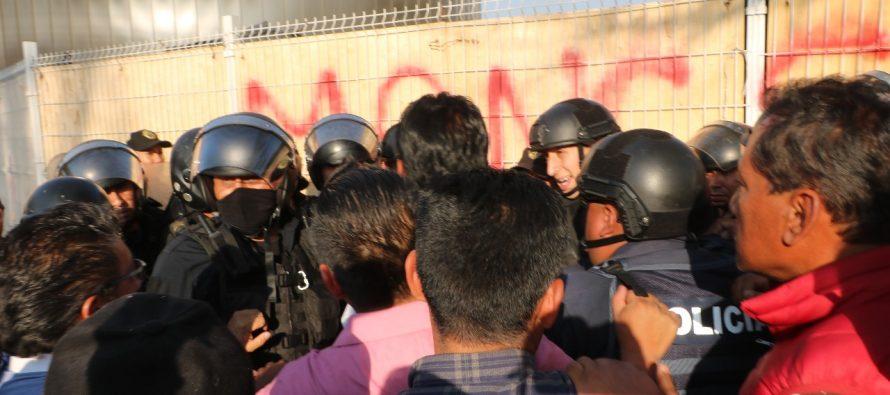 Reprimen en Xochimilco manifestación pacífica