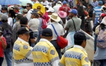 Afectan vialidad manifestaciones en el centro de ciudad