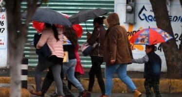 Alerta amarilla en delegaciones por frío, lluvia y granizo